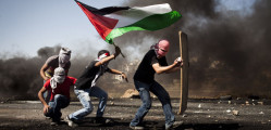 Demonstration, Ofer military prison, West Bank, 15.05.2012