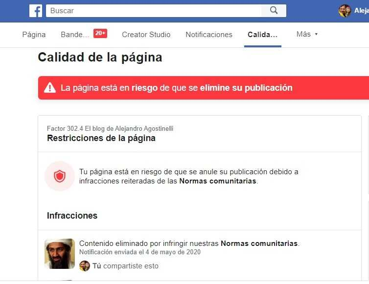 Facebook censuró a un conocido medio Anti Fake News que publicó un post a propósito del 9no aniversario del asesinato de Osama Bin Laden