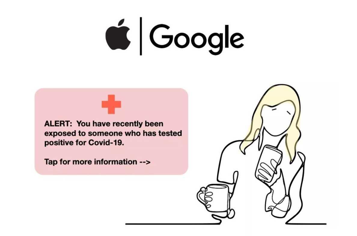Google instaló una aplicación para el Covid-19